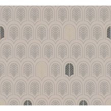 AS Création Vliestapete New Life geometrische Tapete taupe anthrazit beige 376832 10,05 m x 0,53 m