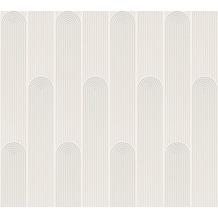 AS Création Vliestapete New Life geometrische Tapete weiß grau 376781 10,05 m x 0,53 m