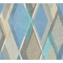 AS Création Vliestapete Pop Colors Tapete beige blau grau 355912 10,05 m x 0,53 m