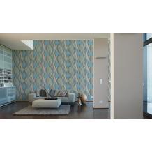 AS Création Vliestapete Pop Colors Tapete beige blau grau 10,05 m x 0,53 m