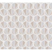AS Création Vliestapete Pop Colors Tapete beige creme grau 355984 10,05 m x 0,53 m
