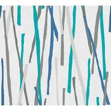 AS Création Vliestapete Pop Colors Tapete blau creme metallic 355993 10,05 m x 0,53 m