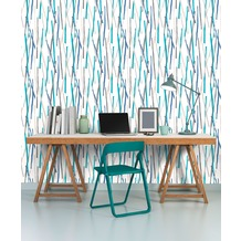 AS Création Vliestapete Pop Colors Tapete blau creme metallic 10,05 m x 0,53 m