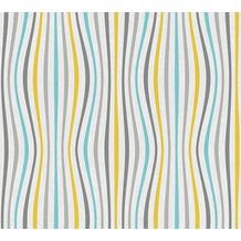 AS Création Vliestapete Pop Colors Tapete blau gelb grau 355972 10,05 m x 0,53 m