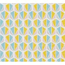AS Création Vliestapete Pop Colors Tapete blau gelb rosa 355983 10,05 m x 0,53 m