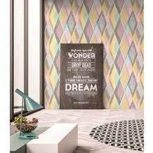 AS Création Vliestapete Pop Colors Tapete blau gelb rosa 10,05 m x 0,53 m