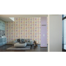 AS Création Vliestapete Pop Colors Tapete weiß 10,05 m x 0,53 m