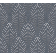 AS Création Vliestapete Pop Style Art Deco Tapete grau metallic schwarz 374822 10,05 m x 0,53 m