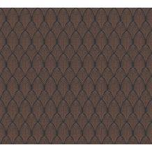AS Création Vliestapete Pop Style Art Deco Tapete metallic schwarz 374842 10,05 m x 0,53 m