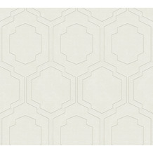 AS Création Vliestapete Pop Style geometrische Tapete beige creme metallic 374791 10,05 m x 0,53 m