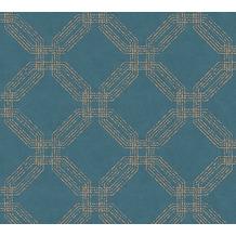 AS Création Vliestapete Pop Style geometrische Tapete blau metallic 374773 10,05 m x 0,53 m