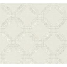 AS Création Vliestapete Pop Style geometrische Tapete grau beige creme 374771 10,05 m x 0,53 m