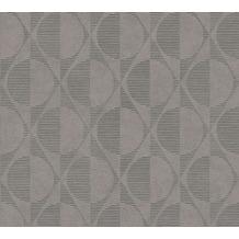 AS Création Vliestapete Pop Style geometrische Tapete grau beige schwarz 374785 10,05 m x 0,53 m