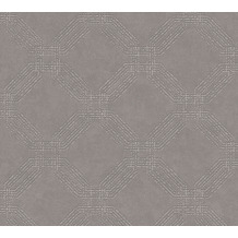 AS Création Vliestapete Pop Style geometrische Tapete grau braun metallic 374774 10,05 m x 0,53 m