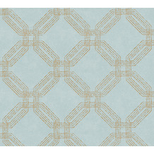 AS Création Vliestapete Pop Style geometrische Tapete metallic blau grün 374772 10,05 m x 0,53 m