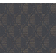 AS Création Vliestapete Pop Style geometrische Tapete schwarz metallic 374781 10,05 m x 0,53 m