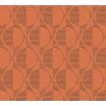 AS Création Vliestapete Pop Style geometrische Tapete schwarz orange 374784 10,05 m x 0,53 m