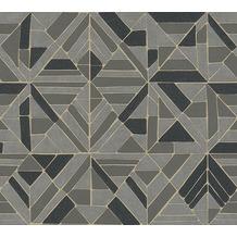 AS Création Vliestapete Pop Style Retrotapete metallic braun schwarz 374814 10,05 m x 0,53 m