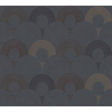 AS Création Vliestapete Pop Style Retrotapete metallic schwarz grau 374802 10,05 m x 0,53 m