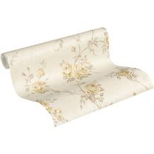 AS Création Vliestapete Romantico Tapete romantisch floral beige creme braun 10,05 m x 0,53 m