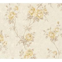AS Création Vliestapete Romantico Tapete romantisch floral beige creme braun 372262 10,05 m x 0,53 m
