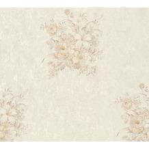 AS Création Vliestapete Romantico Tapete romantisch floral creme beige 372254 10,05 m x 0,53 m
