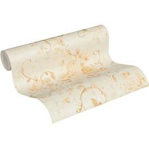 AS Création Vliestapete Romantico Tapete romantisch floral creme beige metallic 10,05 m x 0,53 m