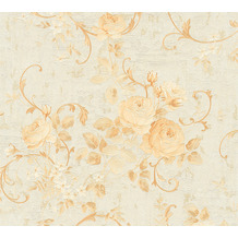AS Création Vliestapete Romantico Tapete romantisch floral creme beige metallic 372243 10,05 m x 0,53 m