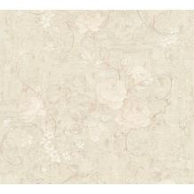 AS Création Vliestapete Romantico Tapete romantisch floral creme grau beige 372244 10,05 m x 0,53 m