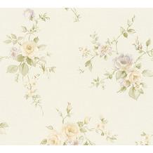 AS Création Vliestapete Romantico Tapete romantisch floral creme grün lila 372345 10,05 m x 0,53 m