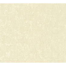 AS Création Vliestapete Romantico Tapete Uni creme 372285 10,05 m x 0,53 m