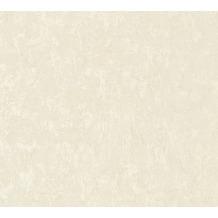 AS Création Vliestapete Romantico Tapete Uni creme 372284 10,05 m x 0,53 m