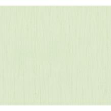 AS Création Vliestapete Romantico Tapete Uni grün 808851 10,05 m x 0,53 m