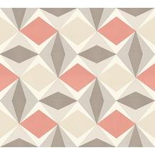 AS Création Vliestapete Scandinavian 2 Tapete geometrisch grafisch beige braun rot 957666 10,05 m x 0,53 m