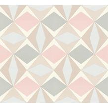 AS Création Vliestapete Scandinavian 2 Tapete geometrisch grafisch beige grau rosa 957664 10,05 m x 0,53 m