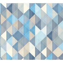 AS Création Vliestapete Scandinavian 2 Tapete geometrisch grafisch blau braun grau 367863 10,05 m x 0,53 m