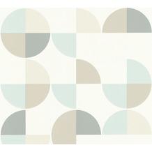 AS Création Vliestapete Scandinavian 2 Tapete geometrisch grafisch blau weiß grau 367701 10,05 m x 0,53 m