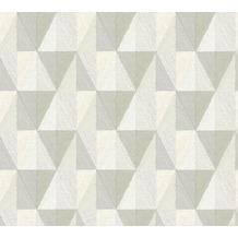 AS Création Vliestapete Scandinavian 2 Tapete geometrisch grafisch grau weiß creme 367232 10,05 m x 0,53 m