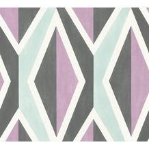 AS Création Vliestapete Scandinavian 2 Tapete geometrisch grafisch schwarz lila blau 366822 10,05 m x 0,53 m