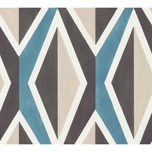 AS Création Vliestapete Scandinavian 2 Tapete geometrisch grafisch schwarz weiß grau 366821 10,05 m x 0,53 m