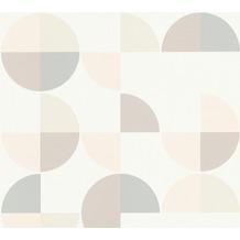 AS Création Vliestapete Scandinavian 2 Tapete geometrisch grafisch weiß braun grau 367702 10,05 m x 0,53 m