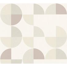 AS Création Vliestapete Scandinavian 2 Tapete geometrisch grafisch weiß grau beige 367703 10,05 m x 0,53 m