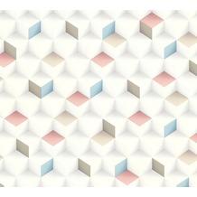 AS Création Vliestapete Scandinavian 2 Tapete in 3D Optik geometrisch beige blau rosa 361852 10,05 m x 0,53 m