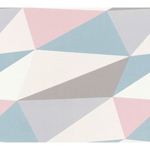 AS Création Vliestapete Scandinavian 2 Tapete in 3D Optik geometrisch blau rosa grau 364753 10,05 m x 0,53 m