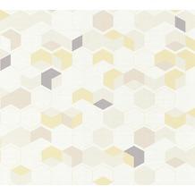 AS Création Vliestapete Scandinavian 2 Tapete in 3D Optik geometrisch gelb beige braun 366833 10,05 m x 0,53 m