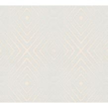 AS Création Vliestapete Scandinavian 2 Tapete in 3D Optik geometrisch grau creme 367854 10,05 m x 0,53 m