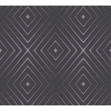 AS Création Vliestapete Scandinavian 2 Tapete in 3D Optik geometrisch schwarz lila 367853 10,05 m x 0,53 m