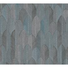 AS Création Vliestapete Sumatra Tapete im Ethno Look metallic blau schwarz 373733 10,05 m x 0,53 m