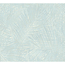 AS Création Vliestapete Sumatra Tapete mit Palmenblättern blau grün 373714 10,05 m x 0,53 m