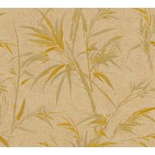 AS Création Vliestapete Sumatra Tapete mit Palmenblättern braun metallic 373767 10,05 m x 0,53 m